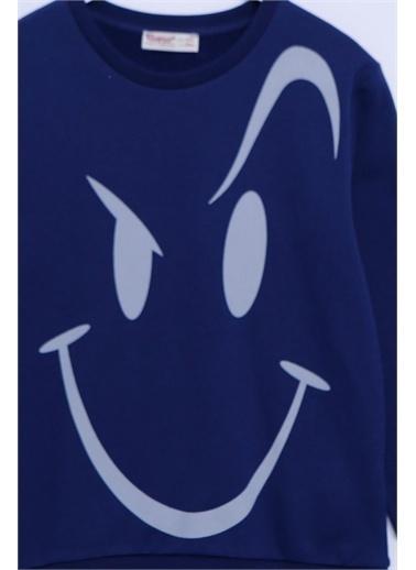 Silversun Kids Sweat Shirt Örme Uzun Kollu Baskılı Sweatshirt Erkek Çocuk Js-313281 Lacivert